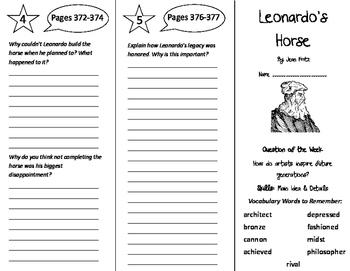 Leonardo's Horse Trifold - Reading Street 5th Grade Unit 3 Week 2