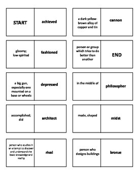 Leonardo's Horse Vocabulary Test and Vocabulary Dominoes