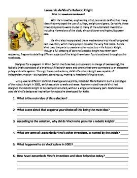 Leonardo's Horse - 5th Grade Reading Street Study Guide