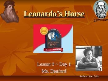 Leonardo's Horse Harcourt Storytown Day 1 PowerPoint