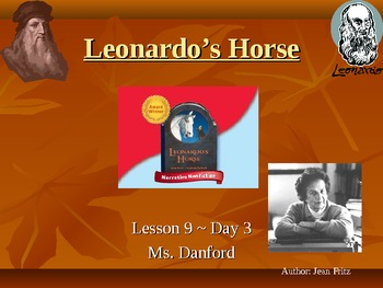 Leonardo's Horse Harcourt Storytown Day 3 PowerPoint