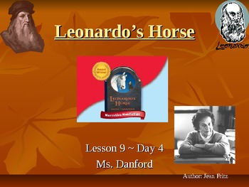 Leonardo's Horse Harcout Storytown Day 4 PowerPoint