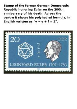 Leonhard Euler Handout with activities