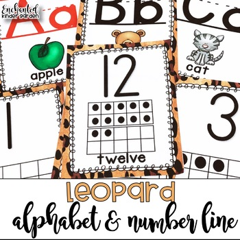 Leopard ABC and Number Line