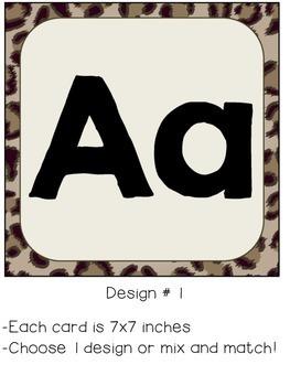 Leopard Alphabet Posters - Alphabet Line