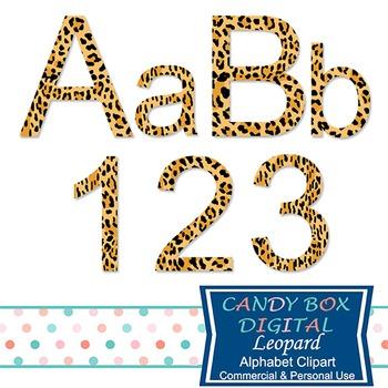 Leopard Animal Alphabet Clip Art - Commercial Use OK
