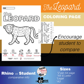 Leopard Animal Coloring Book Activity