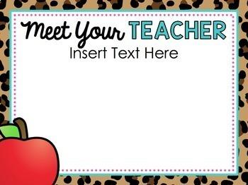 Leopard Back to School PowerPoint