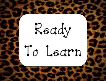 Leopard Behavior Clip Chart