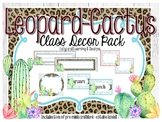 Leopard-Cactus Classroom Decoration Pack-EDITABLE