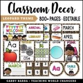 Leopard Theme Classroom Decor