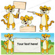 Leopard Clip Art | Leopard with signs