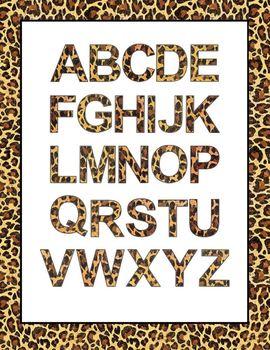 Font Clip Art: Leopard