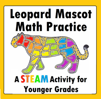 Leopard Jaguar Addition Math Practice Worksheet Mascot Math