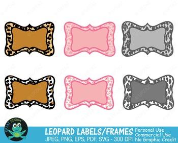 Leopard Print Frames {Upzaz Digital Clipart}