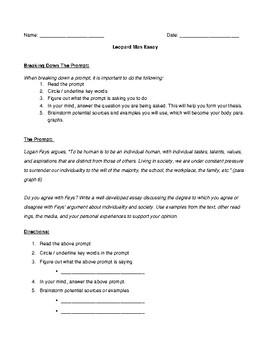 Leopard Man Essay Handout