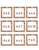 Leopard Multiplication Cards
