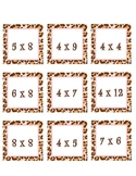 Leopard Multiplication Cards