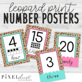 Leopard Print 0-20 Number Posters   Ten Frames   Classroom