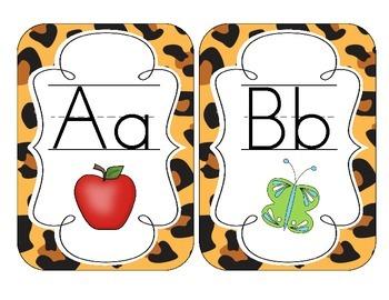 Leopard Print Alphabet Cards