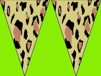Leopard Print Banners