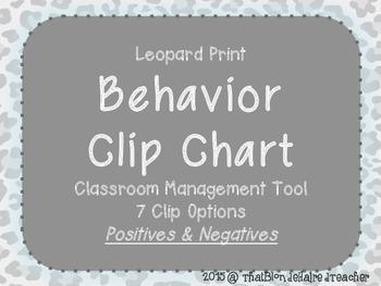 Leopard Print Behavior Management Clip Chart