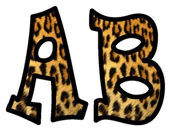 Leopard Print Bulletin Board Alphabet Letters