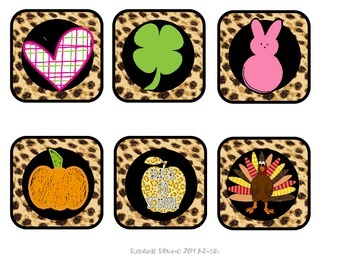 Leopard Print Calendar Set