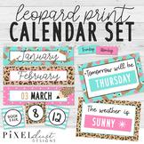 Leopard Print Calendar Set   Weather Kit   Classroom Decor