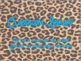 Leopard Print Classroom Library Sign