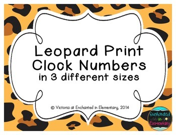 Leopard Print Clock Numbers