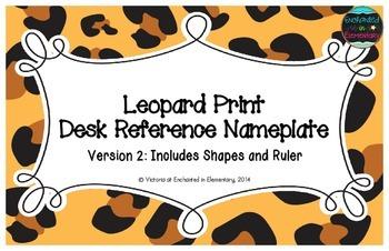 Leopard Print Desk Reference Nameplates Version 2