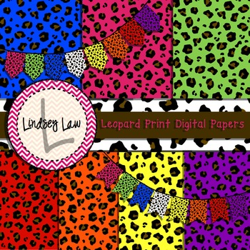 Leopard Print Digital Papers