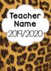 UPDATED Leopard Print EDITABLE Teacher Binder