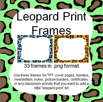 Frames and Borders Clipart - Leopard Prints