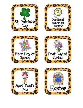 Leopard Print Holiday Calendar Pieces