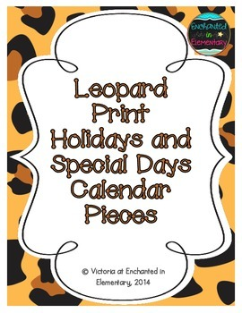 Leopard Print Holiday Calendar Pieces