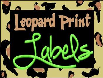 Leopard Print Labels