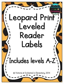 Leopard Print Leveled Reader Labels