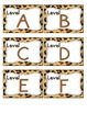 Leopard Print Leveled Reader Labels