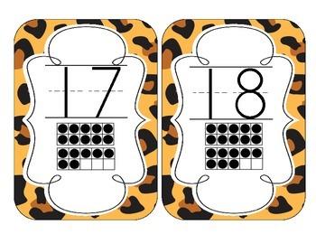 Leopard Print Number Cards 1-20