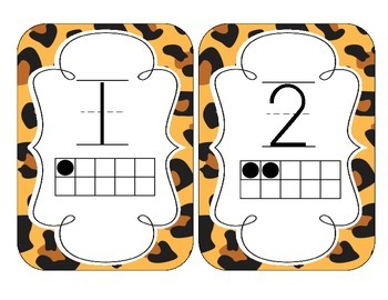 Leopard Print Number Cards 1-20
