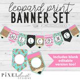 Leopard Print Pencil Classroom Banner Set, Bulletin Board Banners