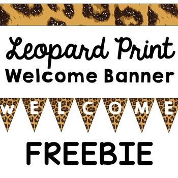 Leopard Print Pennant Banner