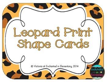 Leopard Print Shape Cards