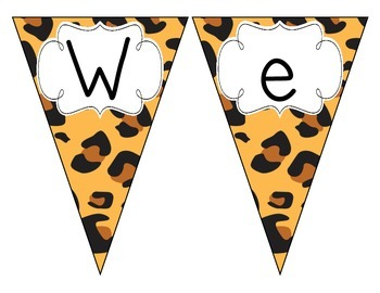 Leopard Print Welcome Pennant