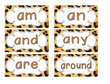 Leopard Print Word Wall Cards