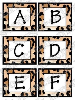 Word Wall Headers: Leopard Print