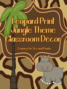 Leopard Print/Jungle Theme Classroom Decor Pack