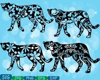 Leopard Safari panther Silhouette school Clipart zoo circu